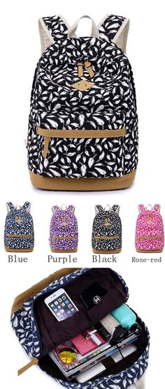 Which color do you like? Backpacks For Teens School, College Backpacks, Backpack For Teens, Cute Backpacks, Girl Backpacks, School Bags, Lace Backpack, Striped Backpack, Floral Backpack