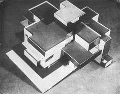 Model private house, 1923, Theo van Doesburg