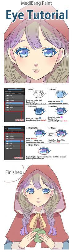 Medibang paint eye tutorial