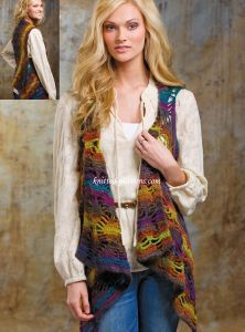 Stormy Weather Boho~Chic Vest: FREE crochet pattern