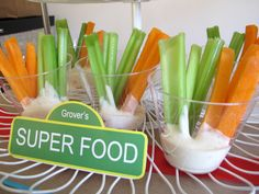 cute take on veggies and dip. Individual cups. Good for flu season. ;)