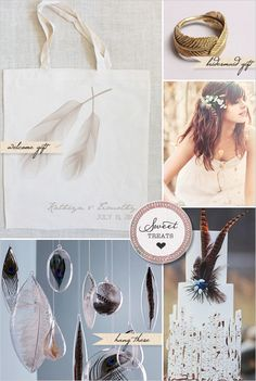 Sweet Treats + Feather Wedding Ideas - The Wedding Chicks
