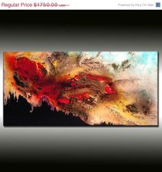 Original Landscape Abstract Painting Modern by newwaveartgallery, $1050.00