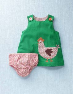 Chicken Pinafore Dress from Boden Kids - I absolutely adore this. I need a little girl to buy it for... any volunteers?