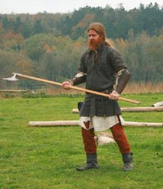 The Dane Axe was one of the most feared weapons, of the norse warriors. With 150-170cm length, you could kill your enemy, without him even beeing able to get close to you. However the length could also be a serious disadvantage, if your opponent knew how use his shield, to block the handle's movement, by pushing it aside! http://menwholooklikevikings.tumblr.com/page/18