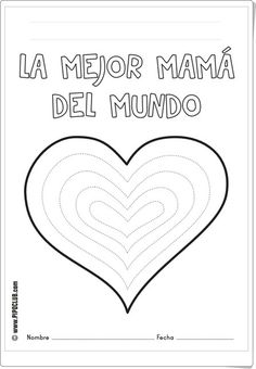 """Día de la Madre: """"La mejor mamá del mundo"""" (Fichas de recortables de Pipoclub)"""