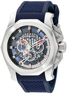 Orefici Unisex ORM2C4816 Stainless Steel Watch with Blue Rubber Band -- You can find more details by visiting the image link.