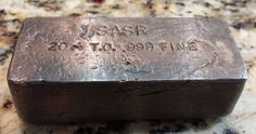 Extremely Rare Old Hand Poured SASR Toned 20.4 Troy OZ .999 Fine Silver Bar