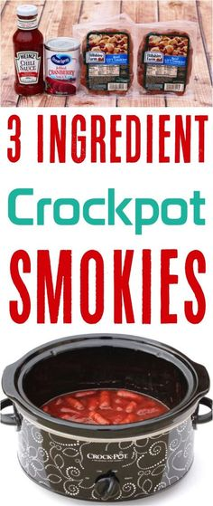 Crockpot Smokies Recipe! This is seriously the ultimate holiday appetizer for your Christmas Parties!