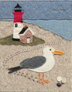 Wool applique patterns inspired by my love of New England. Free Motion Embroidery, Felt Embroidery, Felt Applique, Embroidery Ideas, Wool Applique Patterns, Sewing Appliques, Applique Ideas, Applique Designs, Anni Downs
