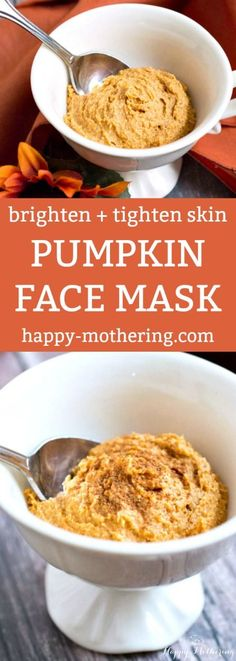 DIY Pumpkin Face Mask to Brighten + Tighten Skin Are you looking for a face mask recipe for brighter, tighter skin? This DIY Pumpkin Face Mask has ingredients that improve the overall appearance of skin. Easy Homemade Face Masks, Homemade Skin Care, Diy Face Mask, Homemade Products, Skin Tightening Lotion, Tightening Face Mask, Skin Firming, Skin Brightening, Pumpkin Faces