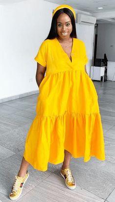 Plus Dresses, Simple Dresses, Cute Dresses, Summer Dresses, Mode Wax, Africa Dress, Amal Clooney, Ankara Dress, Professional Dresses