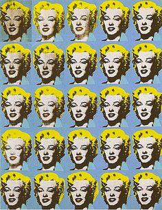 25 Marilyns, 1962, Andy Warhol