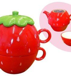 Strawberry Tea Pot.