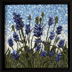 mosaic,art,smalti,floral,lavender,mosaic art,virginia gardner,charlottesville, va