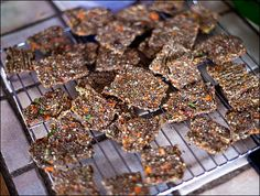 Veggie-Packed Raw Chia Crackers – Healthy Raw Vegetable Crackers | Calm Mind Busy Body