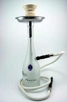 Pravda Vodka Glass Bottle Shisha Hookah!  Come to Lux Lounge in West Bloomfield, MI to relax with friends at a premiere hookah lounge in an upscale atmosphere!  Call (248) 661-1300 or visit www.luxloungewb.com for more information!