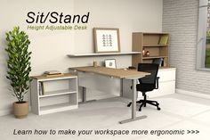 Sit/Stand Height Adjustable Desk | Stretch Benching System | Exclusively  From Conklin Office Furniture