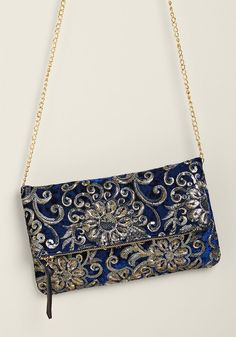 Gorgeously Embroidered Velvet Clutch | ModCloth