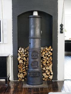 "I want a wood stove in my house someday. Maybe more than one - a wood stove, a fireplace, and one of those cool decorative iron/steel fire ""pits"" outside on my lakeside deck. :-)"