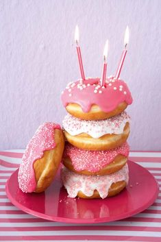 We have been doing donut birthday mornings since my teenagers were small. We rarely eat this stuff so it's a special treat on a special day! They still love it <3