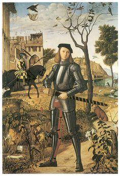 Young Knight in a Landscape - Vittore Carpaccio