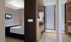 Proyecto iluminación Hotel Axel Barcelona. Iluminación de habitación del hotel. Avanluce
