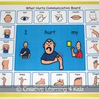 What Hurts Communication Board Visual communication board to help a child let you know what hurts. Board is 8 x 11 This is would be great fo. Autism Activities, Autism Resources, Classroom Behavior, Autism Classroom, Social Skills Autism, Preschool Special Education, Autism Education, Speech Language Therapy, Speech Therapy