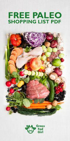 Paleo Diet Foods List | https://www.grassfedgirl.com/paleo-diet-food-list/