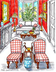 Some ideas for arranging furniture in a long and narrow living room with many entrance doors, archways and windows