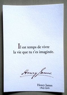 "citation | Tumblr... for my English speaking only followers ""It's time to live the life that you've imagined."""