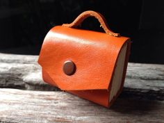 MiNiBook Briefcase orange color by fullmoonn on Etsy, $9.00