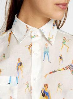 jarofcunts:beatpie: G. Kero - Bowie Shirt Okay shaunkardinal Look Fashion, Fashion Beauty, Womens Fashion, Fashion Trends, Look Retro, Mein Style, Mode Inspiration, Creative Inspiration, Street Style