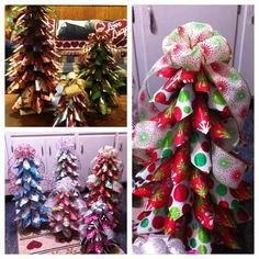 Looking for the perfect homemade Christmas decoration? Learn how to make an impressive paper cone tree using holiday wrapping paper and some cardboard tubes.