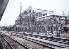 Keijo (Seoul): Keijo Central Train Station platform under construction, October 1924 경성역 공사 현장