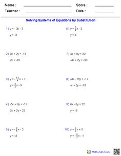 math worksheet : solving two variable systems of equations by graphing  math aids  : Math Worksheets Solving Equations