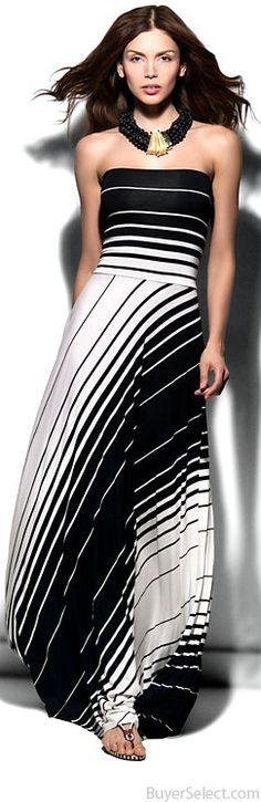 Nadia Tarr Exclusive Lolita Variegated Striped Dress