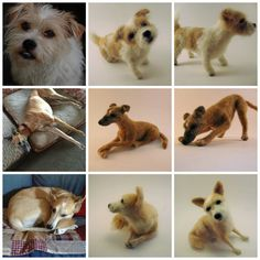 Needle Felted Dog Sculpture Custom Dog by ThreeDogsandaCat on Etsy