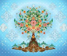 Wallpaper mural Catalina Estrada life tree - Catalina Estrada - Artistas Bloom  Pretty cool, eh?