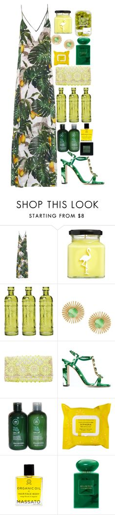 """Untitled #1010"" by meelstyle on Polyvore featuring ADRIANA DEGREAS, Flamingo Candles, Cultural Intrigue, Wouters & Hendrix, EAST, Dolce&Gabbana, Paul Mitchell, Sephora Collection, Giorgio Armani and Bobbi Brown Cosmetics"