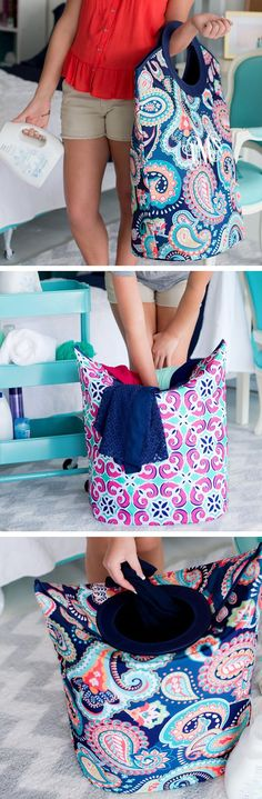 A graduation party any graduate can use in her apartment bedroom or college dorm room, this quilted mega laundry tote personalized with a monogram or single initial will help keep dirty clothes organized and easy to carry to the laundry room or laundromat. This extra-large laundry bag can be ordered at http://www.tippytoad.com/personalized-mega-laundry-tote-bags.asp
