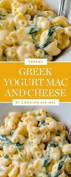 Greek yogurt mac and cheese. Get this and more lighter versions of your favorite pasta dishes. #macandcheese #healthypasta #healthyalternatives