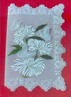 tarjeta en pergamino tarjeta pergamino de 180gr.,tempera profesional,tizas pastel repujado
