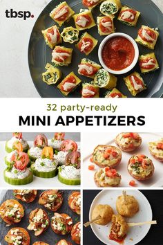 Party people need a good arsenal of appetizers, and we know our Tablespoon fans are always party people!) Go bready, sweet, salty or cheesy. They're all party-perfect—just like you! Best Holiday Appetizers, Mini Appetizers, Appetizer Recipes, Holiday Recipes, Healthy Appetizers, Holiday Treats, Vegan Recipes, Cooking Recipes, Creole Recipes
