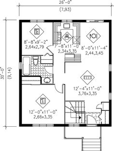 Traditional House Plan 49543 Level One