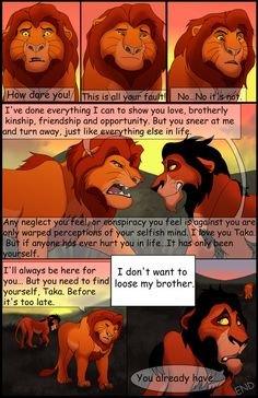 Chapter 4 Page 43 End of Chapter 4 So here it is, the end of chapter As you may remember, one of my last contests was to draw the last page of chapte. Uru's Reign: Chapter Page 43 Disney Pixar, Disney Memes, Disney Quotes, Disney And Dreamworks, Disney Characters, Lion King Story, Lion King Fan Art, King Art, Scar Lion King