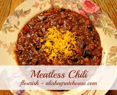 Meatless Chili - Crock Pot Recipe I am using as a guide will most likely add som. - - Meatless Chili - Crock Pot Recipe I am using as a guide will most likely add some different ingredients Chili Recipes, Veggie Recipes, Slow Cooker Recipes, Crockpot Recipes, Whole Food Recipes, Diet Recipes, Vegetarian Recipes, Cooking Recipes, Daniel Fast