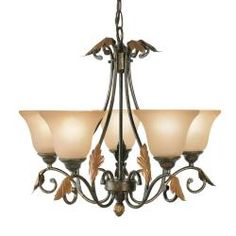 Woodbridge Lighting Easton 5-light Coffee Chandelier  @Overstock - A unique coffee finish combines with burnt-etched glass for an elegant appeal in this five-light pendant. This fixture works in a variety of placements to accent any home decor.http://www.overstock.com/Home-Garden/Woodbridge-Lighting-Easton-5-light-Coffee-Chandelier/6014019/product.html?CID=214117 $280.00