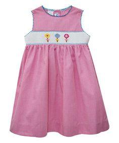 Pink Lollipop Smocked A-Line Dress - Infant & Toddler