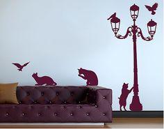 No.RS67 Katzen und Laterne